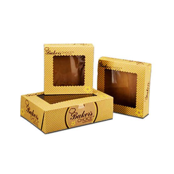 Printed Kraft Bakery Boxes