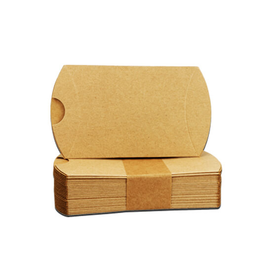 Printed Kraft Pilow Boxes